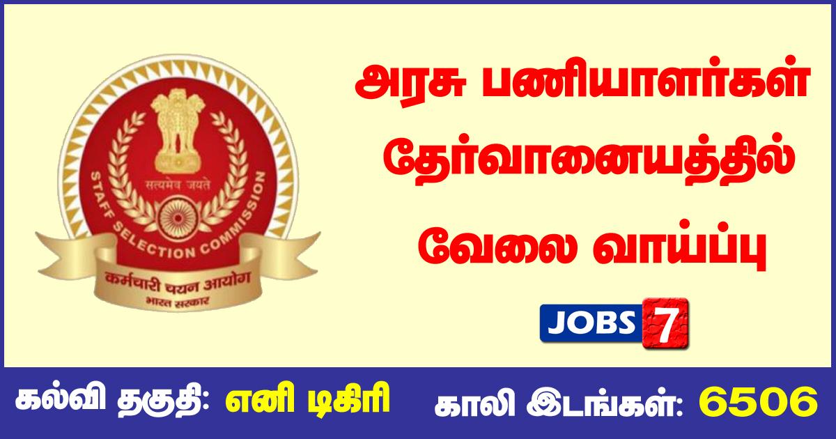 SSC CGL Recruitment 2021 OUT - 6506 SI, Inspector vacancies