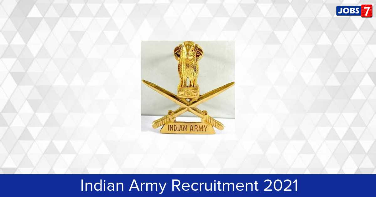 Indian Army Recruitment 2021: 691 Jobs in Indian Army | Apply @ joinindianarmy.nic.in
