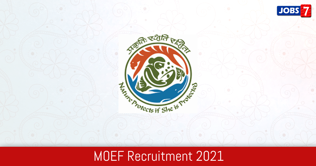 MOEF Recruitment 2021:  Jobs in MOEF | Apply @ moef.gov.in