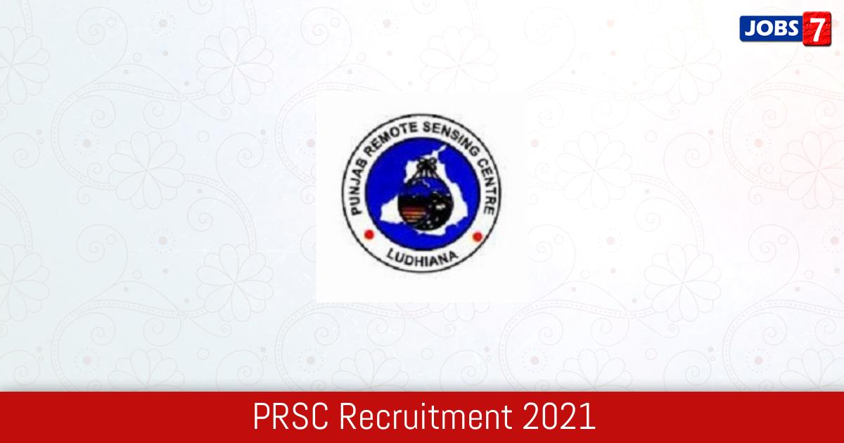 PRSC Recruitment 2021:  Jobs in PRSC | Apply @ prsc.gov.in