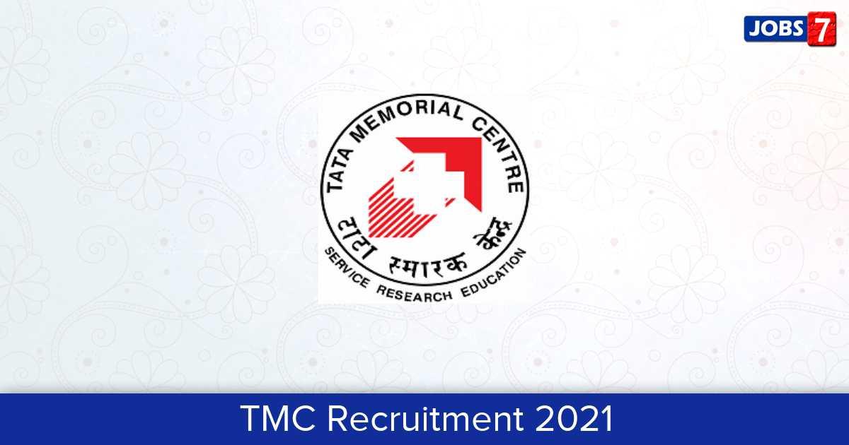 TMC Recruitment 2021: 13 Jobs in TMC | Apply @ tmc.gov.in