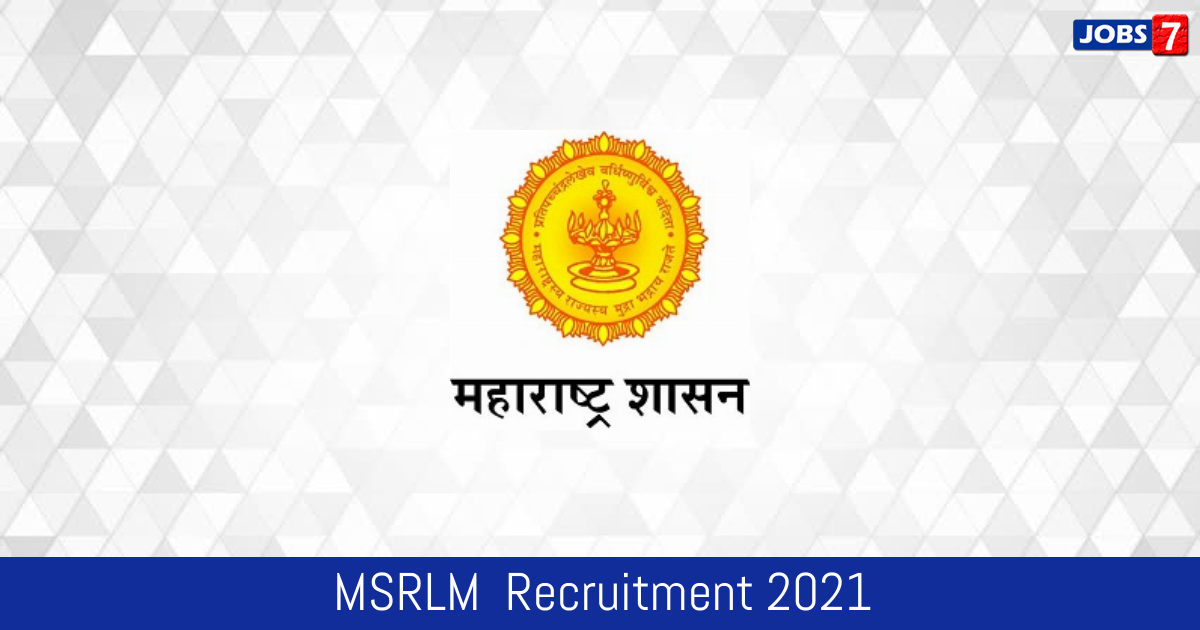 MSRLM  Recruitment 2021:  Jobs in MSRLM  | Apply @ umed.in