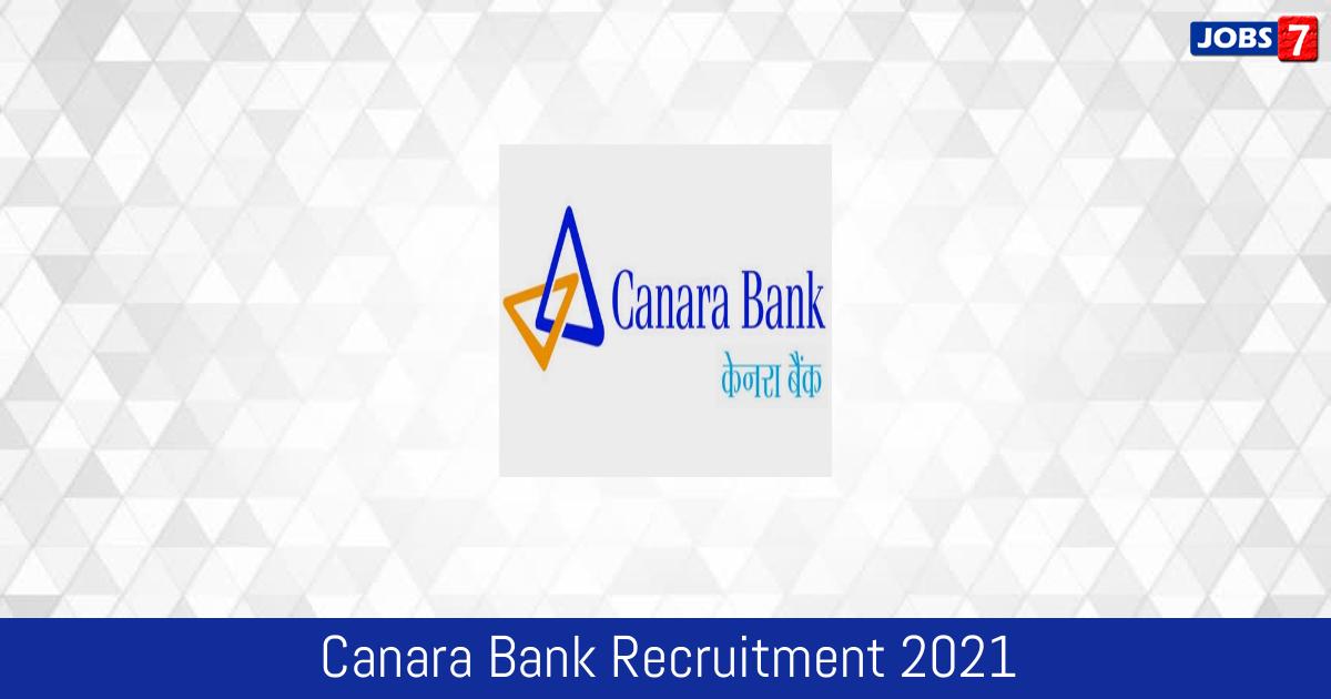 Canara Bank Recruitment 2021:  Jobs in Canara Bank | Apply @ www.canarabank.com