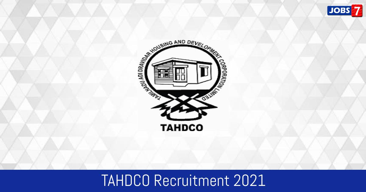 TAHDCO Recruitment 2021:  Jobs in TAHDCO | Apply @ tahdco.com