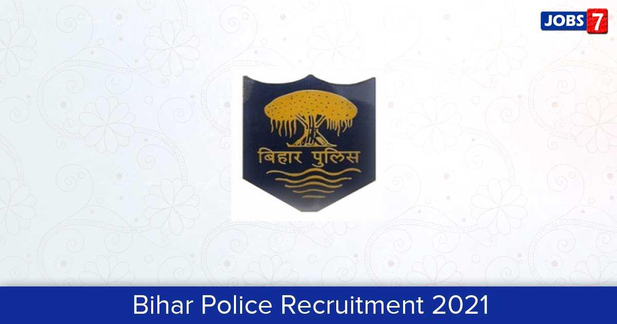 Bihar Police Recruitment 2021:  Jobs in Bihar Police | Apply @ biharpolice.bih.nic.in