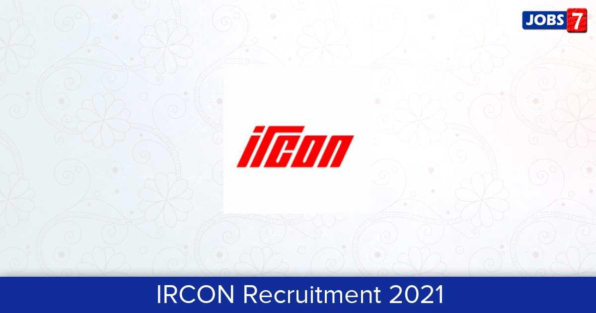 IRCON Recruitment 2021: 1 Jobs in IRCON | Apply @ www.ircon.org