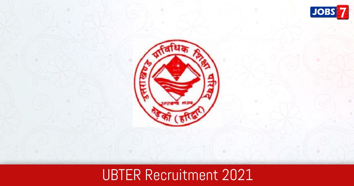 UBTER Recruitment 2021:  Jobs in UBTER   Apply @ www.ubter.in