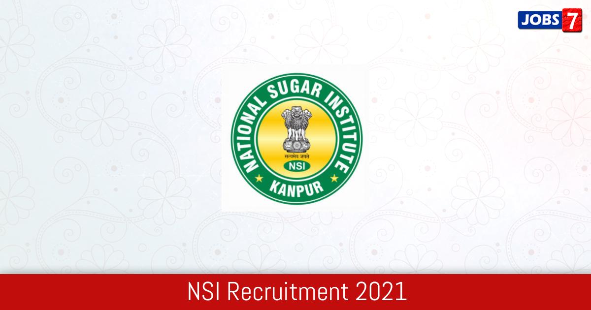 NSI Recruitment 2021:  Jobs in NSI   Apply @ nsi.gov.in