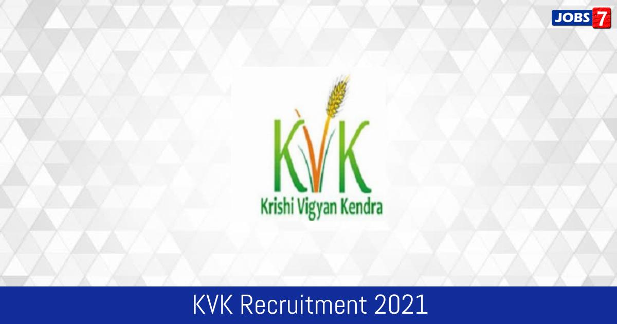 KVK Recruitment 2021:  Jobs in KVK | Apply @ kvkmedak.org
