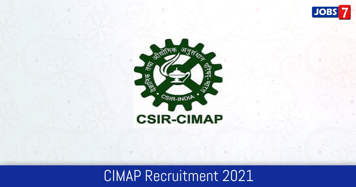 CIMAP Recruitment 2021:  Jobs in CIMAP | Apply @ www.cimap.res.in
