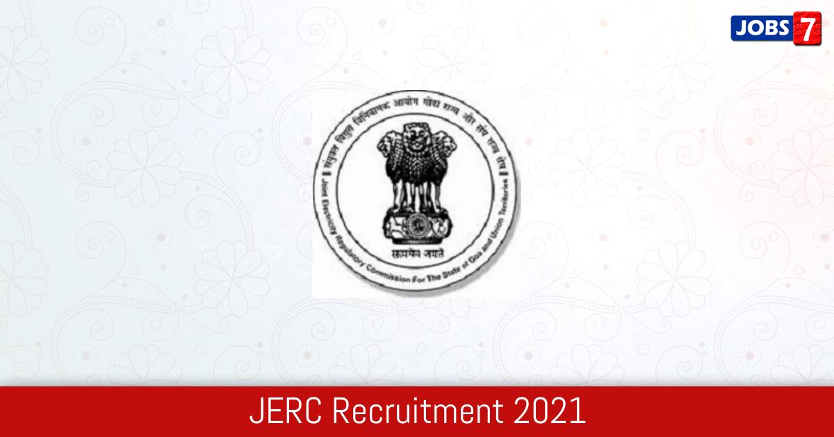JERC Recruitment 2021: 5 Jobs in JERC   Apply @ jercuts.gov.in