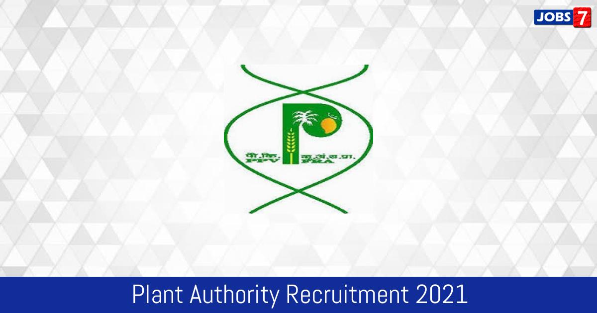 Plant Authority Recruitment 2021:  Jobs in Plant Authority | Apply @ www.plantauthority.gov.in