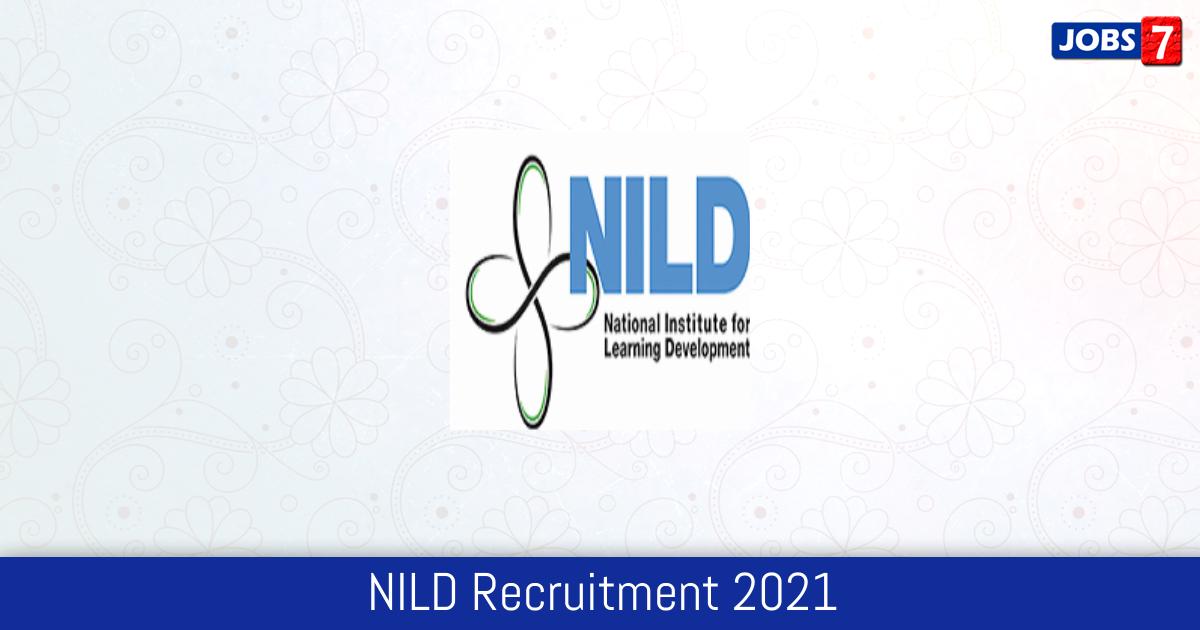NILD Recruitment 2021:  Jobs in NILD | Apply @ www.niohkol.nic.in