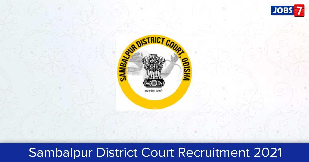 Sambalpur District Court Recruitment 2021:  Jobs in Sambalpur District Court | Apply @ districts.ecourts.gov.in
