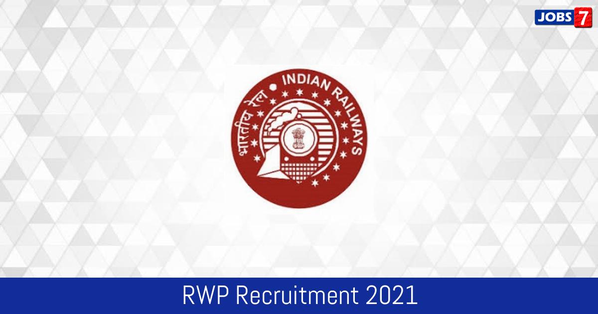 RWP Recruitment 2021:  Jobs in RWP   Apply @ rwp.indianrailways.gov.in