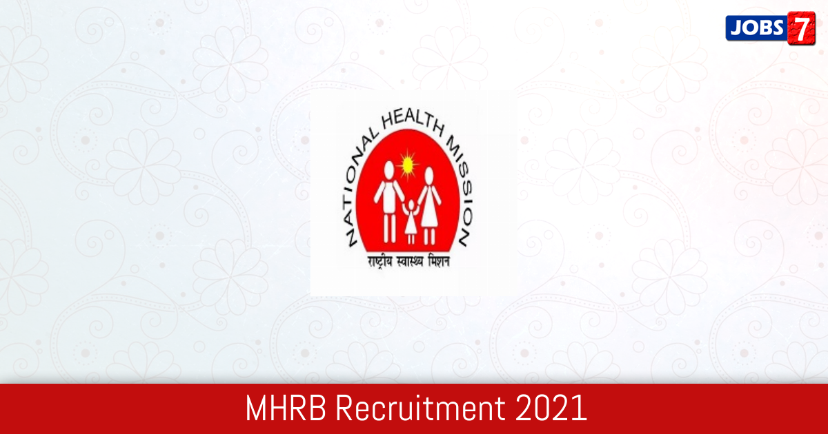 MHRB Recruitment 2021:  Jobs in MHRB   Apply @ mhsrb.telangana.gov.in