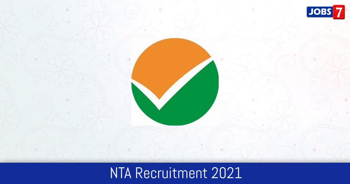 NTA Recruitment 2021:  Jobs in NTA | Apply @ nta.ac.in