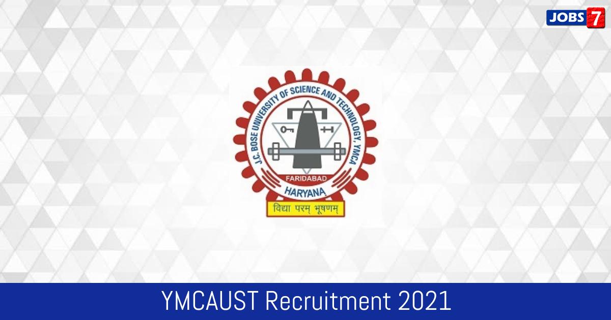 YMCAUST Recruitment 2021:  Jobs in YMCAUST   Apply @ jcboseust.ac.in