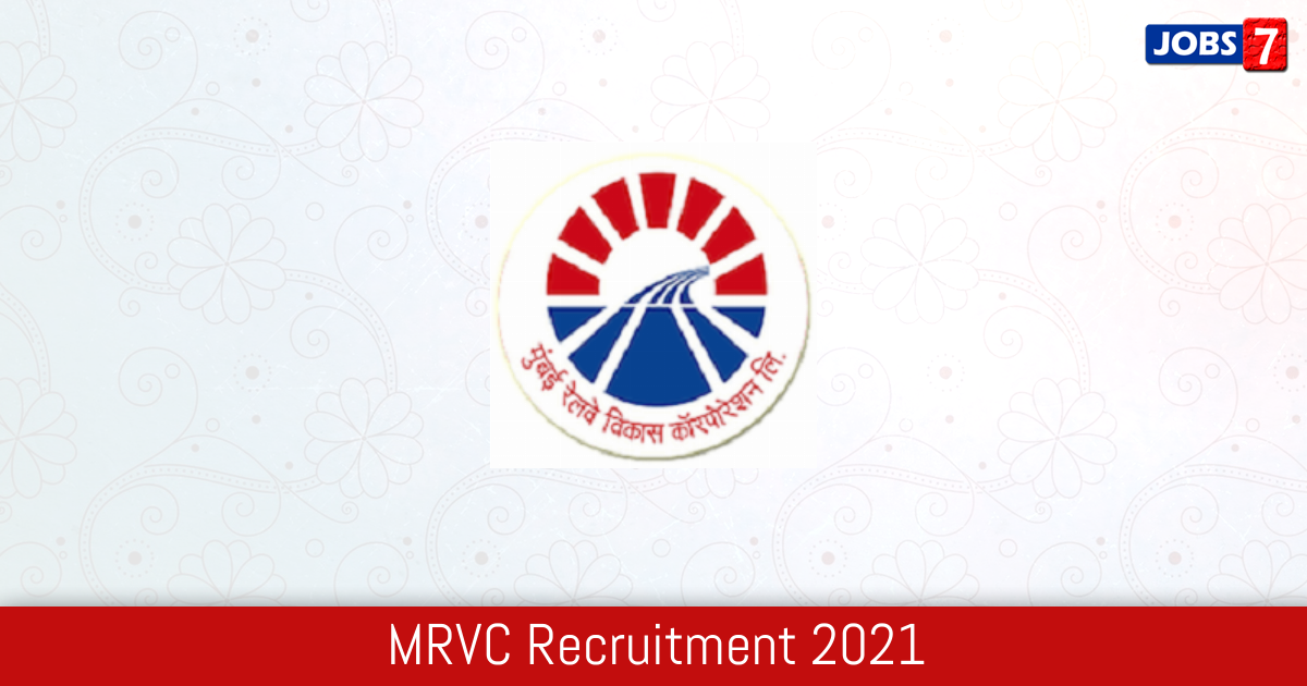 MRVC Recruitment 2021: 1 Jobs in MRVC   Apply @ mrvc.indianrailways.gov.in