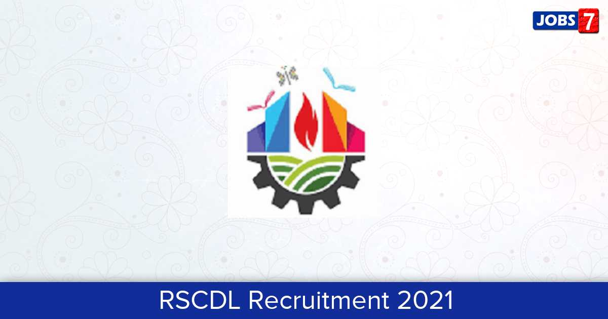 RSCDL Recruitment 2021:  Jobs in RSCDL | Apply @ smartcityrajkot.in