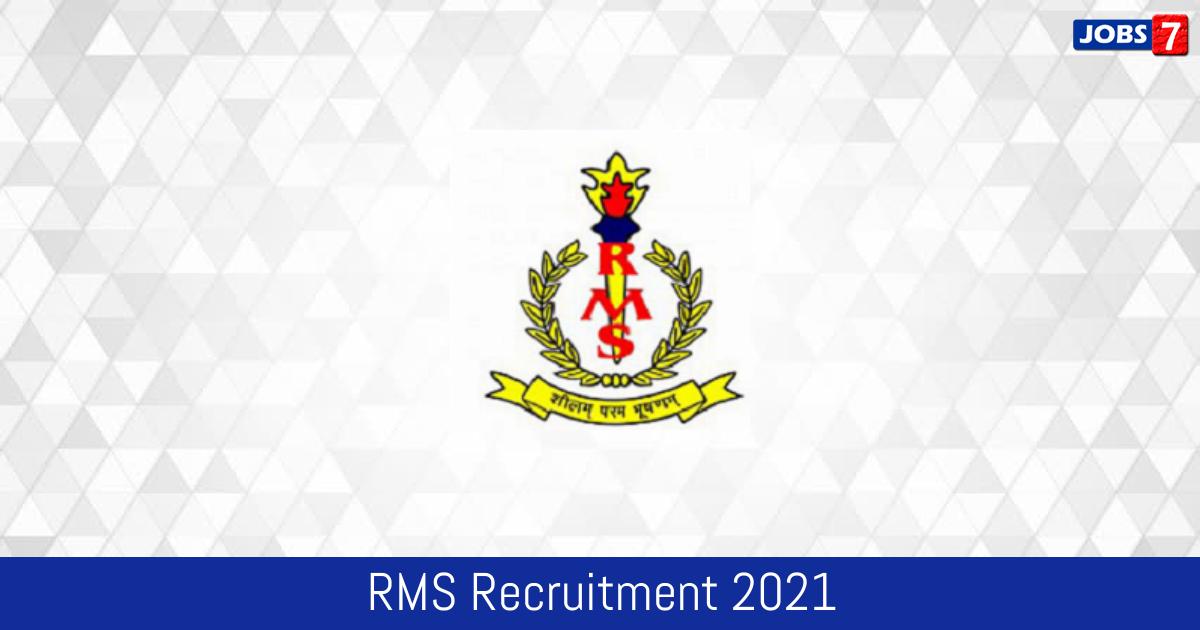 RMS Recruitment 2021:  Jobs in RMS   Apply @ www.rashtriyamilitaryschools.edu.in