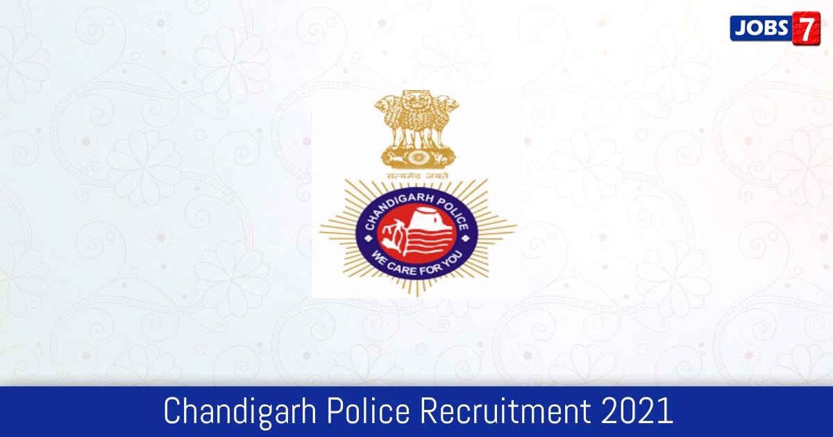 Chandigarh Police Recruitment 2021:  Jobs in Chandigarh Police | Apply @ chandigarhpolice.gov.in