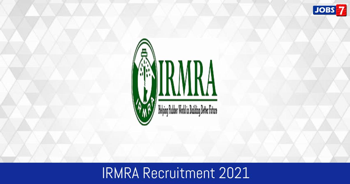 IRMRA Recruitment 2021:  Jobs in IRMRA   Apply @ irmra.org