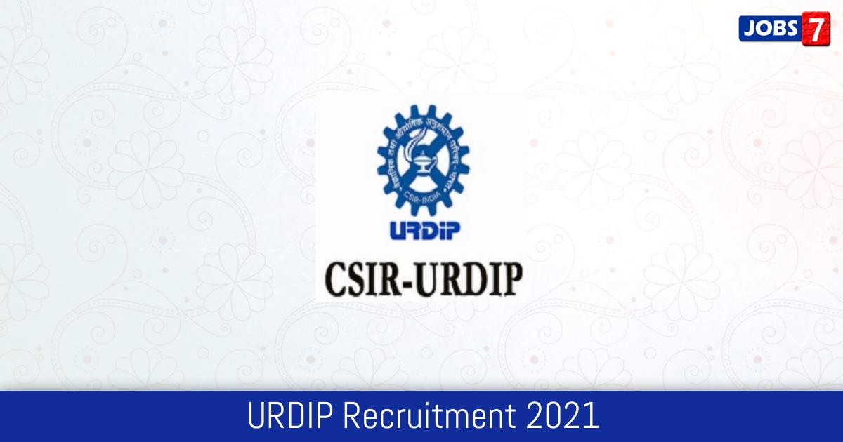 URDIP Recruitment 2021:  Jobs in URDIP | Apply @ urdip.res.in