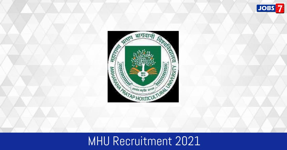 MHU Recruitment 2021:  Jobs in MHU | Apply @ www.mhu.ac.in