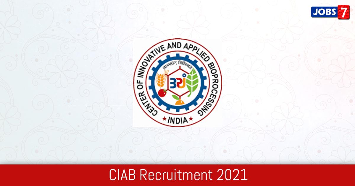 CIAB Recruitment 2021:  Jobs in CIAB | Apply @ www.ciab.res.in