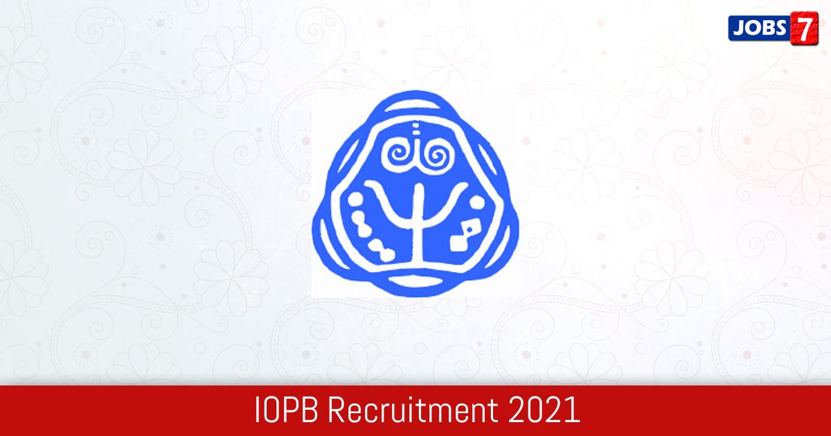 IOPB Recruitment 2021:  Jobs in IOPB | Apply @ www.iopb.res.in
