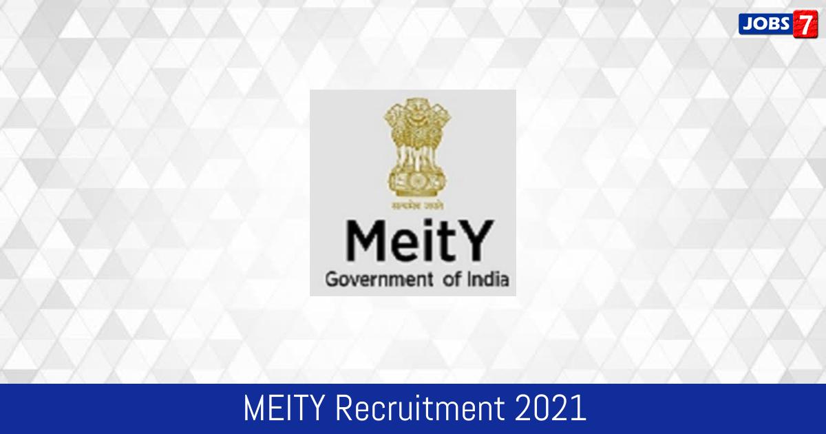 MEITY Recruitment 2021:  Jobs in MEITY   Apply @ www.meity.gov.in
