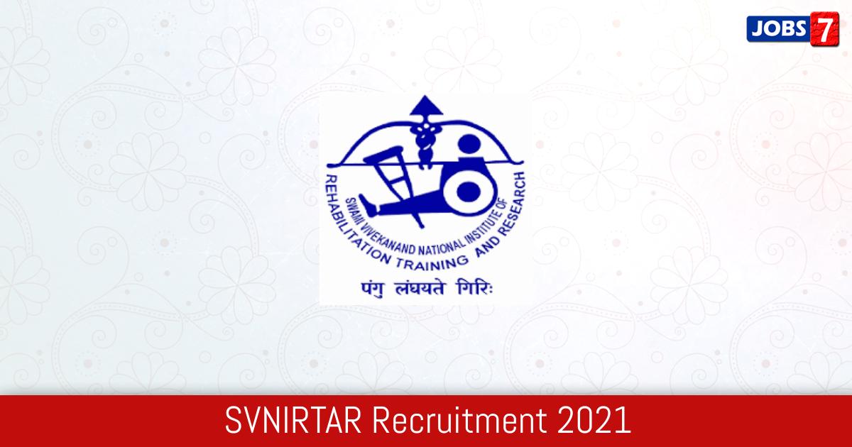 SVNIRTAR Recruitment 2021:  Jobs in SVNIRTAR | Apply @ www.svnirtar.nic.in