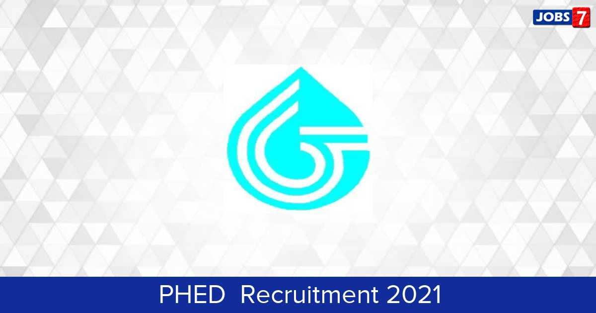 PHED  Recruitment 2021:  Jobs in PHED  | Apply @ phedmis.bih.nic.in