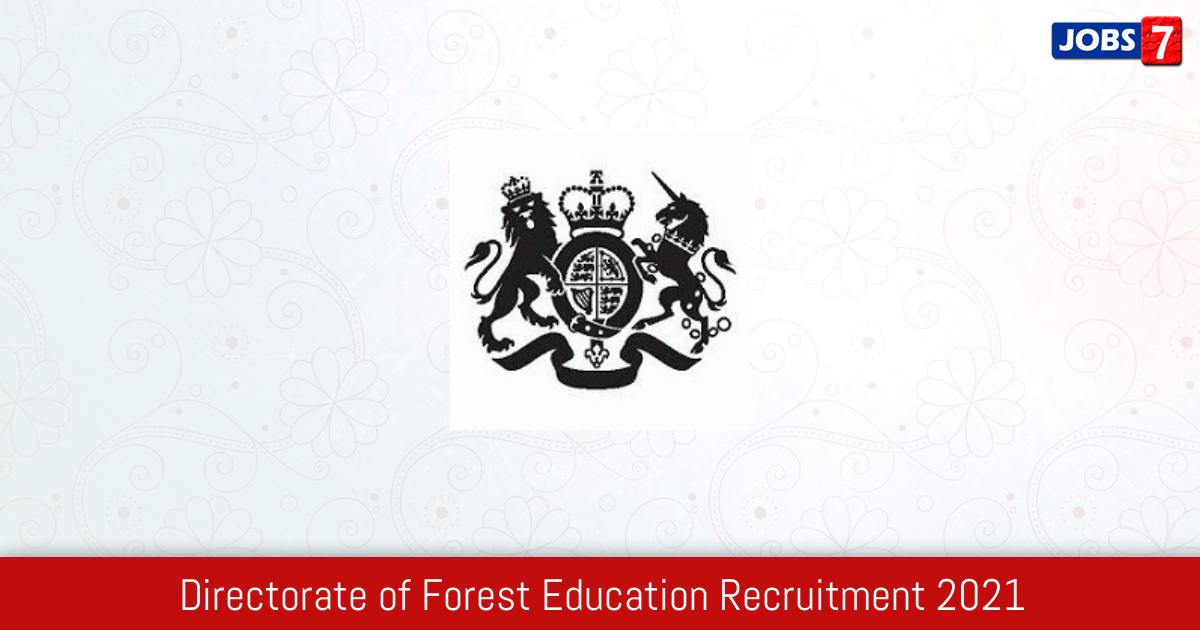 DFE Recruitment 2021:  Jobs in DFE | Apply @ www.dfe.gov.in