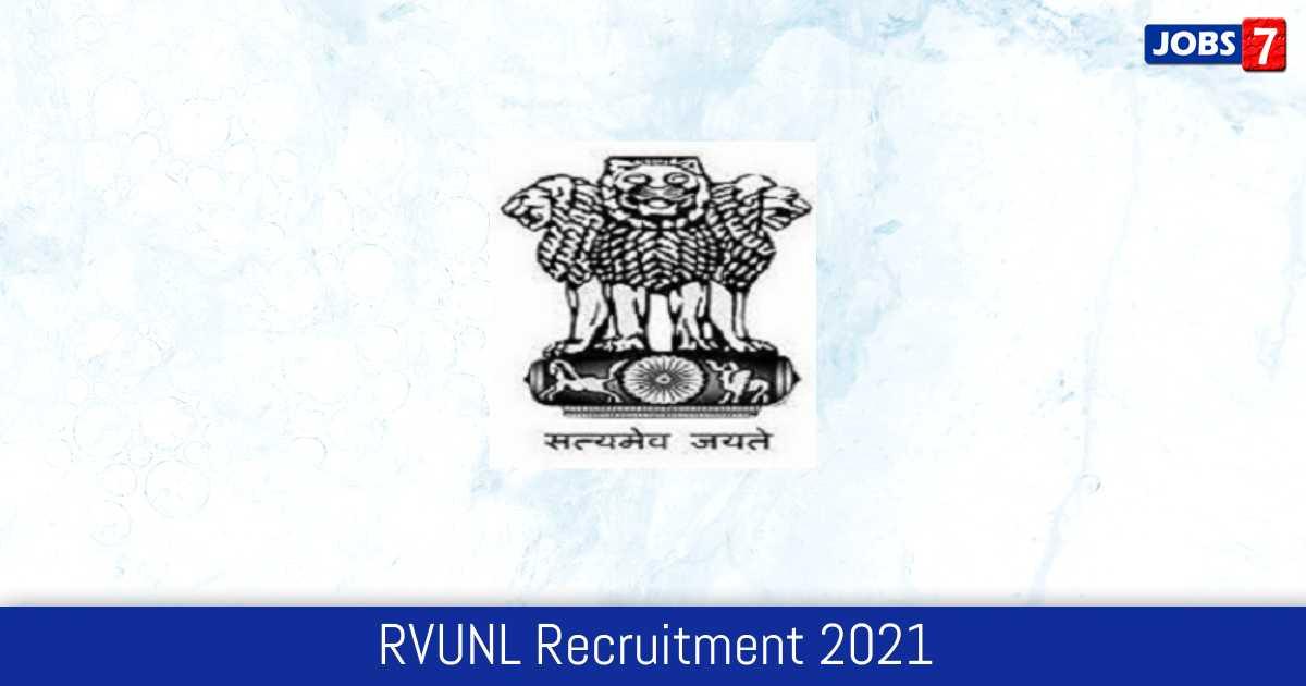 RVUNL Recruitment 2021:  Jobs in RVUNL   Apply @ energy.rajasthan.gov.in