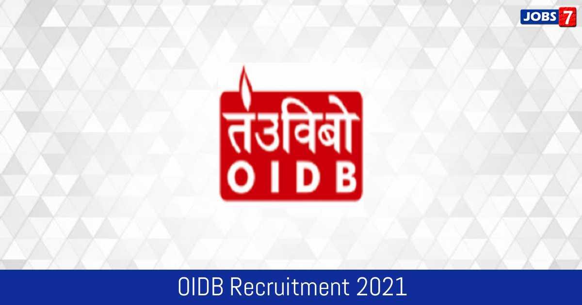OIDB Recruitment 2021:  Jobs in OIDB   Apply @ www.oidb.gov.in