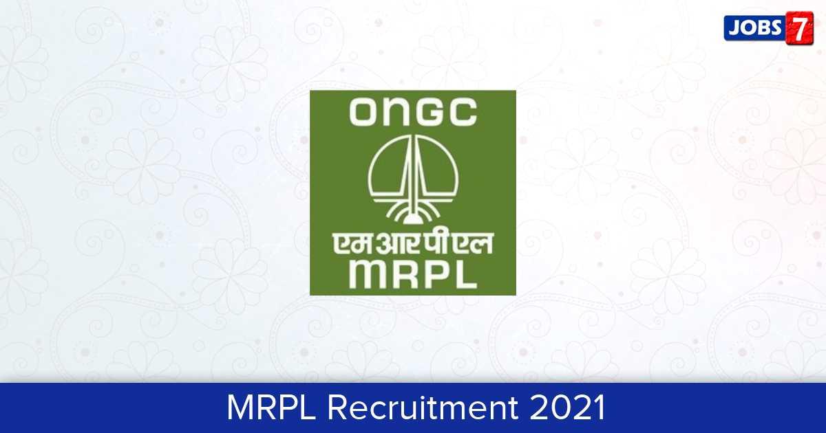 MRPL Recruitment 2021:  Jobs in MRPL | Apply @ www.mrpl.co.in