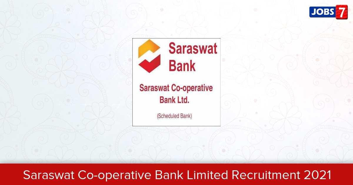 Saraswat Co-operative Bank Limited Recruitment 2021:  Jobs in Saraswat Co-operative Bank Limited | Apply @ www.saraswatbank.com