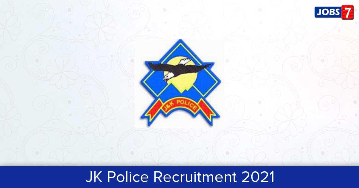 JK Police Recruitment 2021:  Jobs in JK Police | Apply @ www.jkpolice.gov.in