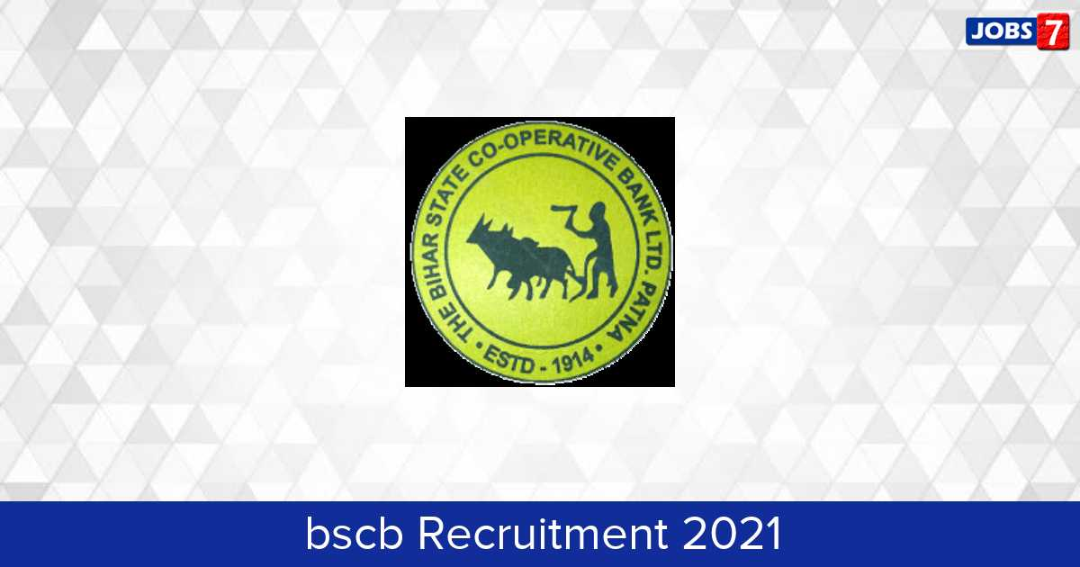 BSCB Recruitment 2021:  Jobs in BSCB | Apply @ bscb.co.in