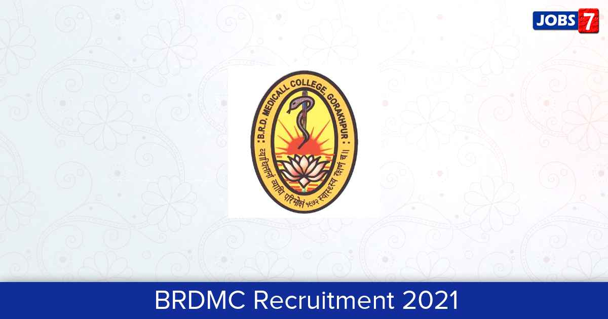 BRDMC Recruitment 2021:  Jobs in BRDMC   Apply @ brdmc.ac.in