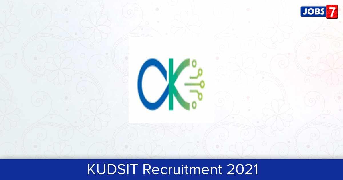 KUDSIT Recruitment 2021:  Jobs in KUDSIT | Apply @ duk.ac.in