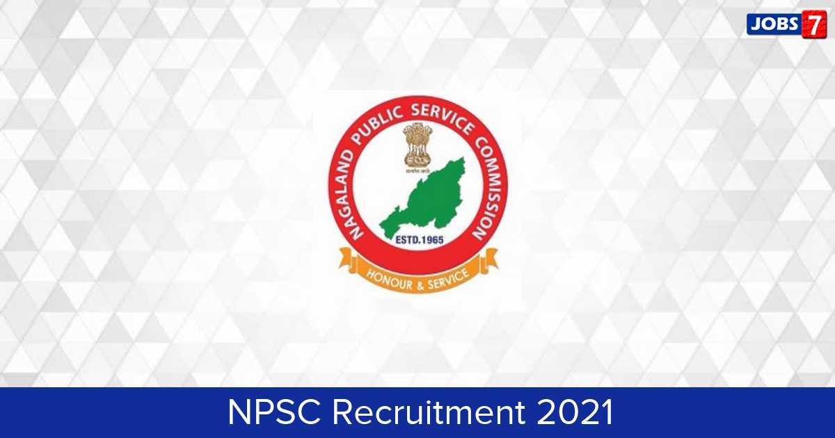 NPSC Recruitment 2021:  Jobs in NPSC | Apply @ www.npsc.co.in