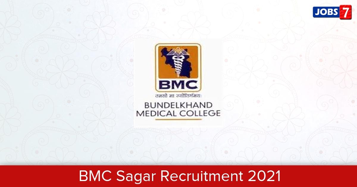 BMC Sagar Recruitment 2021:  Jobs in BMC Sagar   Apply @ bmcsagar.edu.in