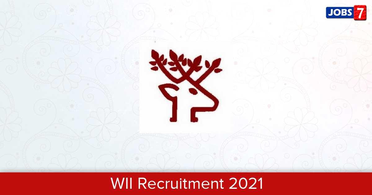WII Recruitment 2021:  Jobs in WII   Apply @ wii.gov.in
