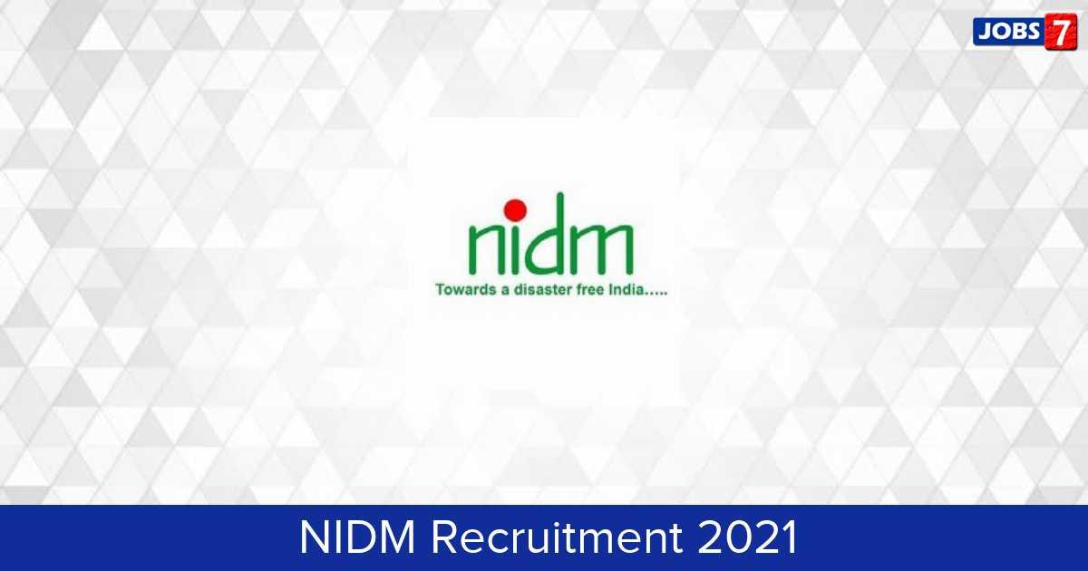 NIDM Recruitment 2021:  Jobs in NIDM | Apply @ nidm.gov.in