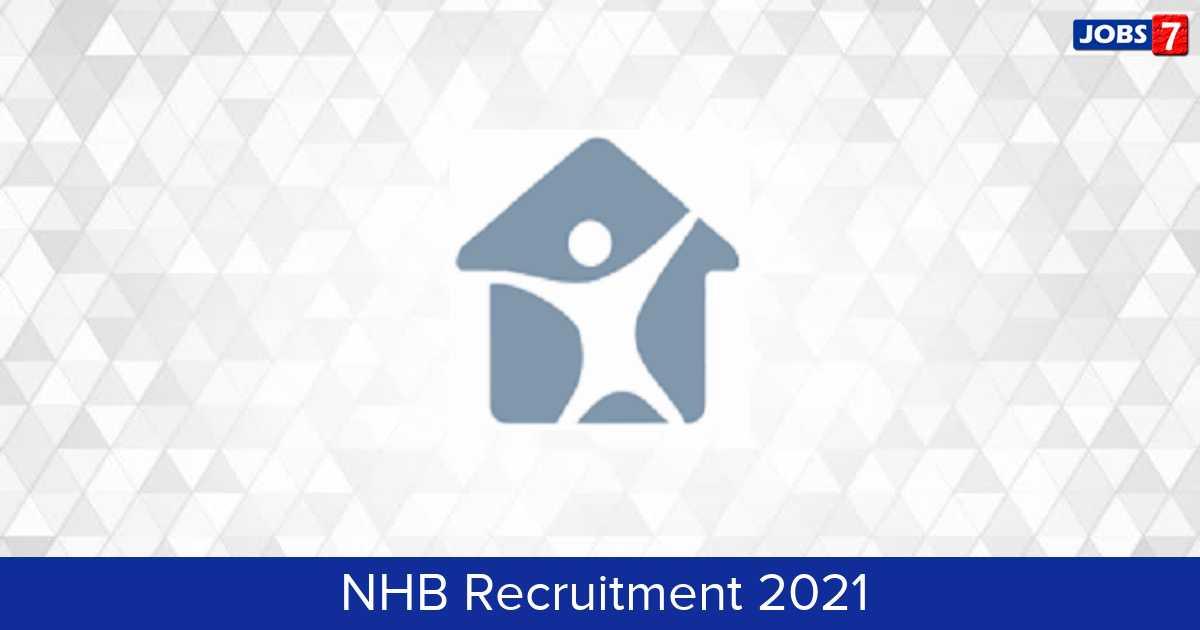 NHB Recruitment 2021:  Jobs in NHB | Apply @ nhb.org.in