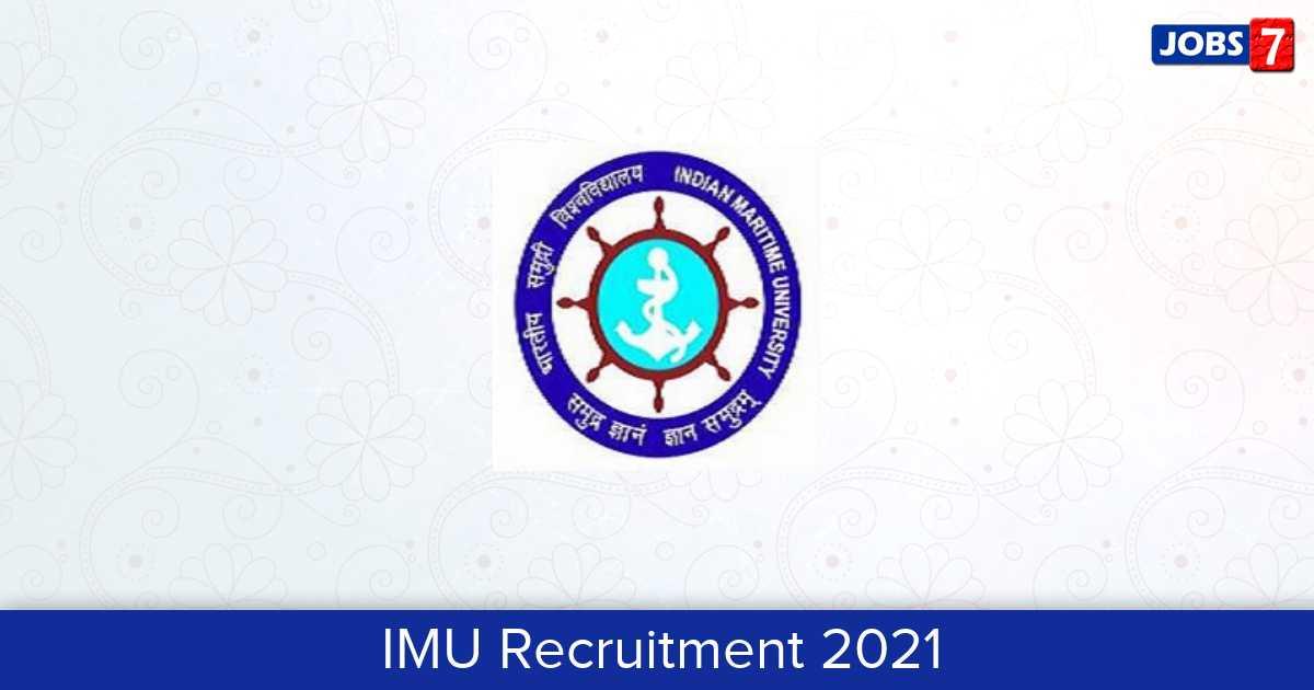 IMU Recruitment 2021:  Jobs in IMU   Apply @ www.imu.edu.in