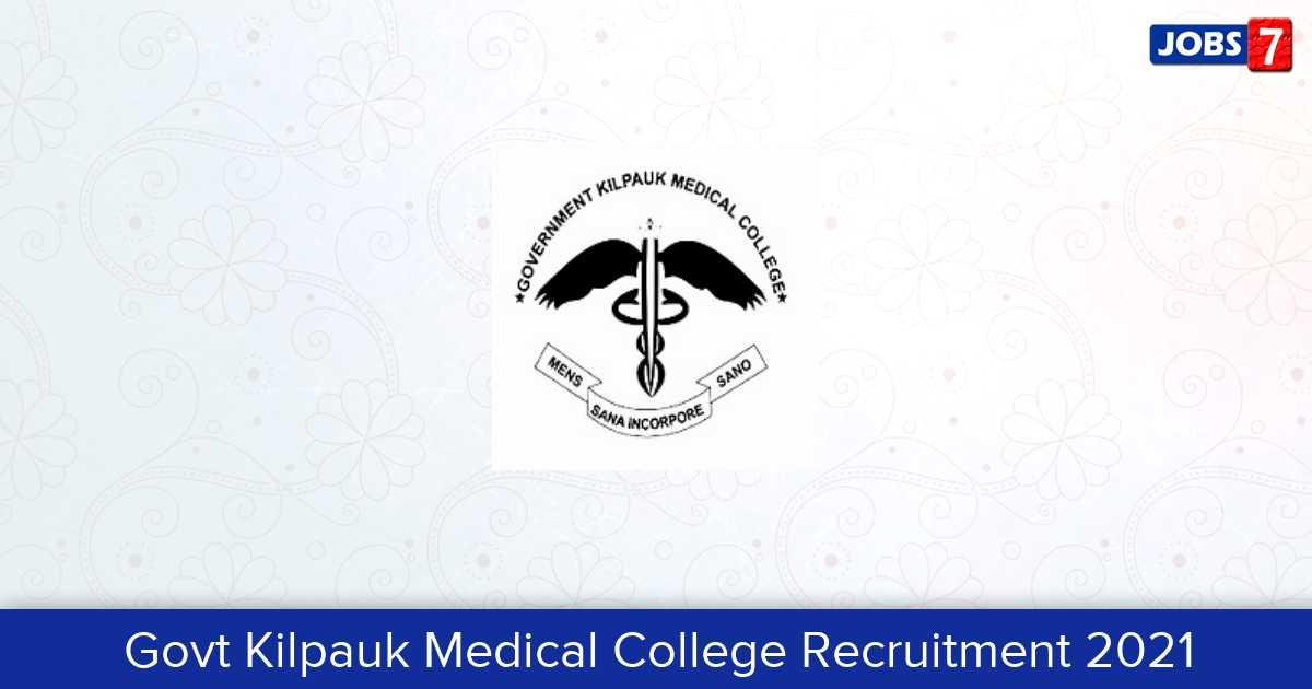 GKMC Recruitment 2021:  Jobs in GKMC | Apply @ www.gkmc.in